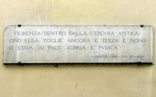 Targhe E Terzine Di Dante Tour Florencecity Rivista