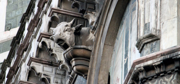 The cow on the Cathedral.