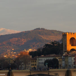 L'ultimo raggio di sole sulla Torre di San Niccolò