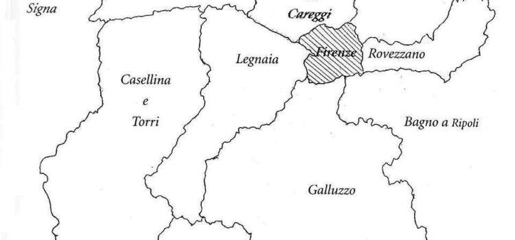 Gli antichi comuni che circondavano Firenze.