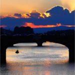Sull'Arno al tramonto.