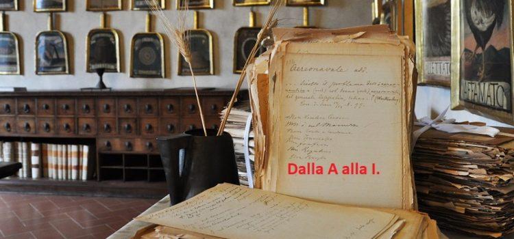 Vocabolario Fiorentino. Dalla A alla I.