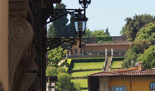 Veduta sul Giardino di Villa Bardini.