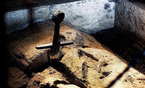 La spada nella roccia.