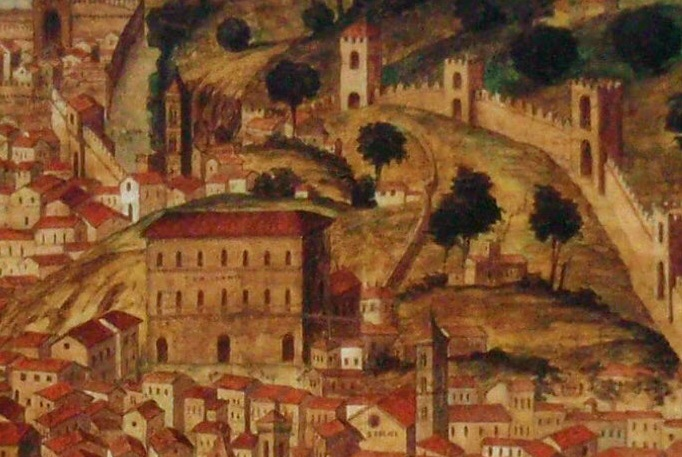 Porte e postierle di firenze seconda parte florencecity rivista le mura di firenze nella pianta della catena del xv secolo altavistaventures Images