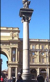 Colonna dell'abbondanza, l'ombelico di Firenze.
