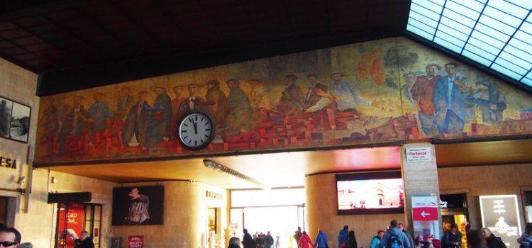 Omaggio a Giampaolo Talani con il suo affresco nella Stazione di Santa Maria Novella.