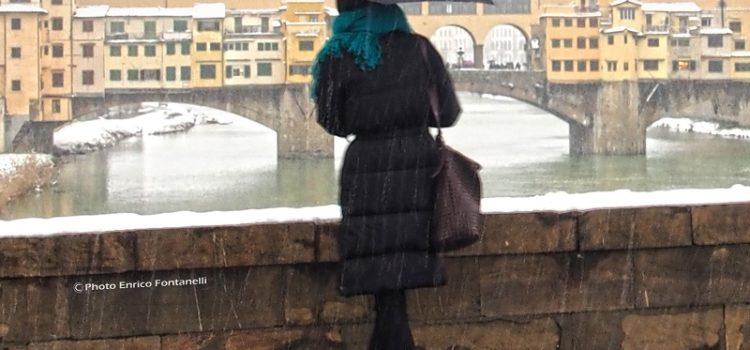 Ammirando Firenze sotto la neve.