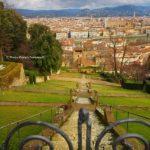 """Un """"ripido"""" sguardo dal giardino di Villa Bardini."""