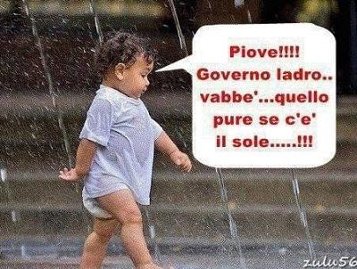 Piove governo ladro.