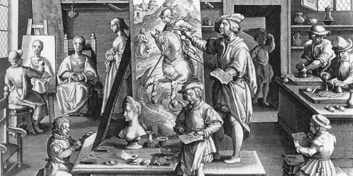 Le botteghe dei pittori nel XV secolo.