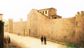Da un dipinto di Fabio Borbottoni, due fantasmi urbanistici.