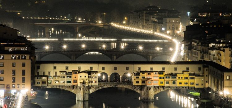 Ponte Vecchio, dall'inizio di Fiorenza.