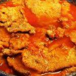 Braciole fritte rifatte al pomodoro.