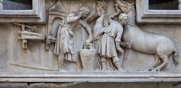 La leggenda di Michele e lo zoccolo riattaccato del cavallo: Orsanmichele