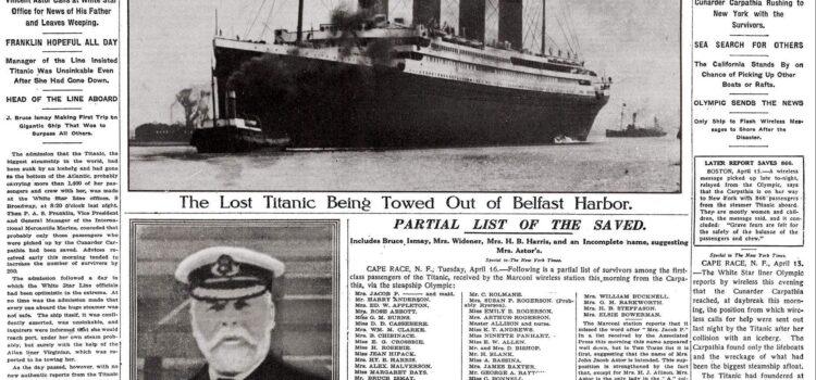 Metti una sera a cena raccontando la storia di un fiorentino imbarcato sull'inaffondabile Titanic